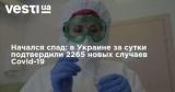 Начался спад: в Украине за сутки подтвердили 2265 новых случаев Covid-19